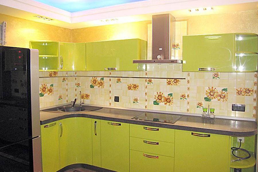 Дизайн угловой кухни 9 квадратов фото