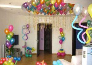 День рождение взрослого или ребенка - украшаем дом